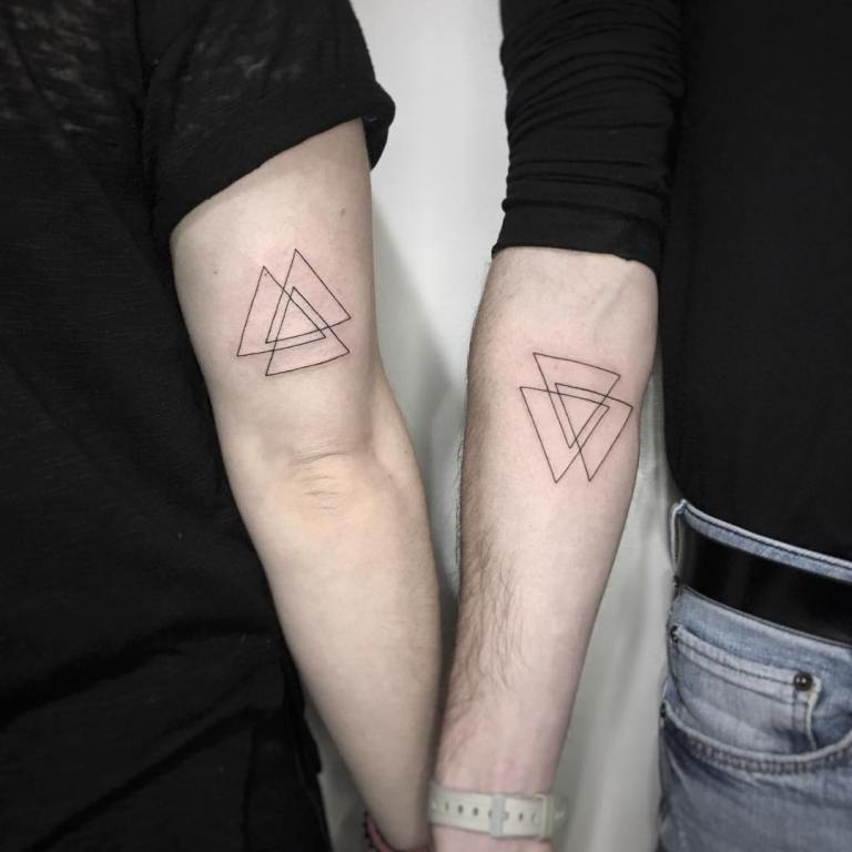 треугольники тату