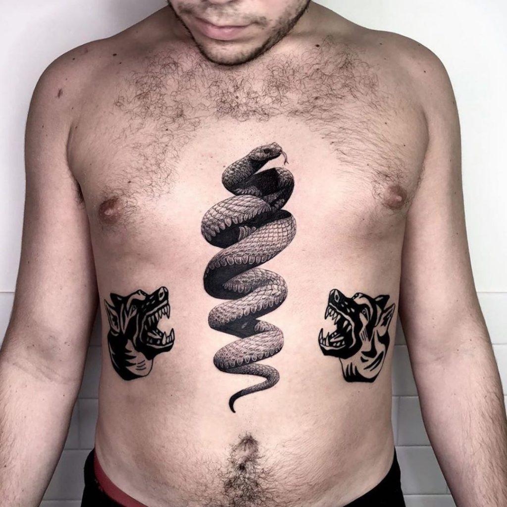 что обозначает тату змея