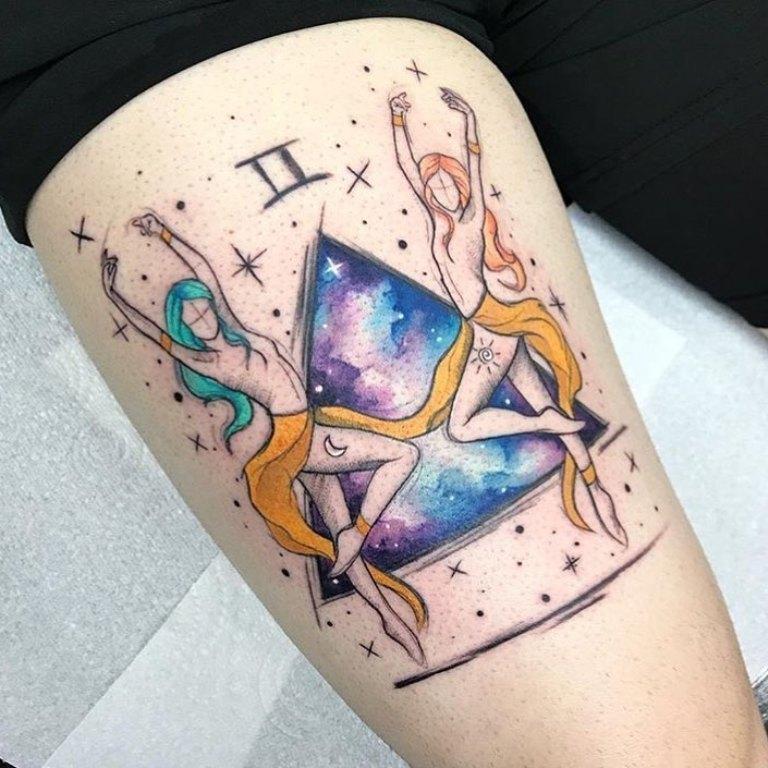 татуировка близнецы знак зодиака