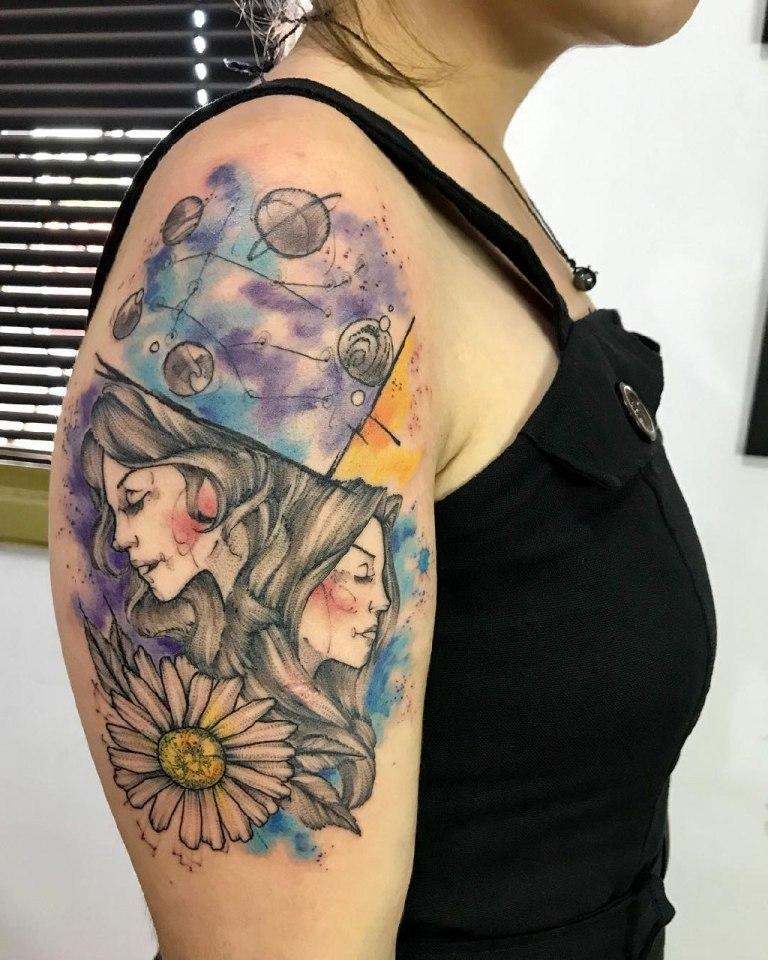 татуировка близнецы эскизы