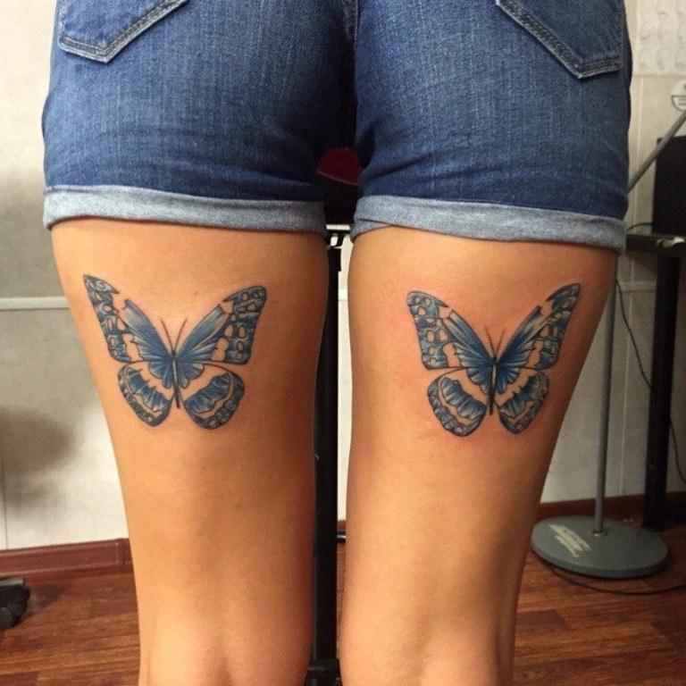 татуировка на ляшках для девушки