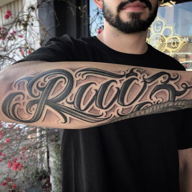 татуировки надписи для мужчин
