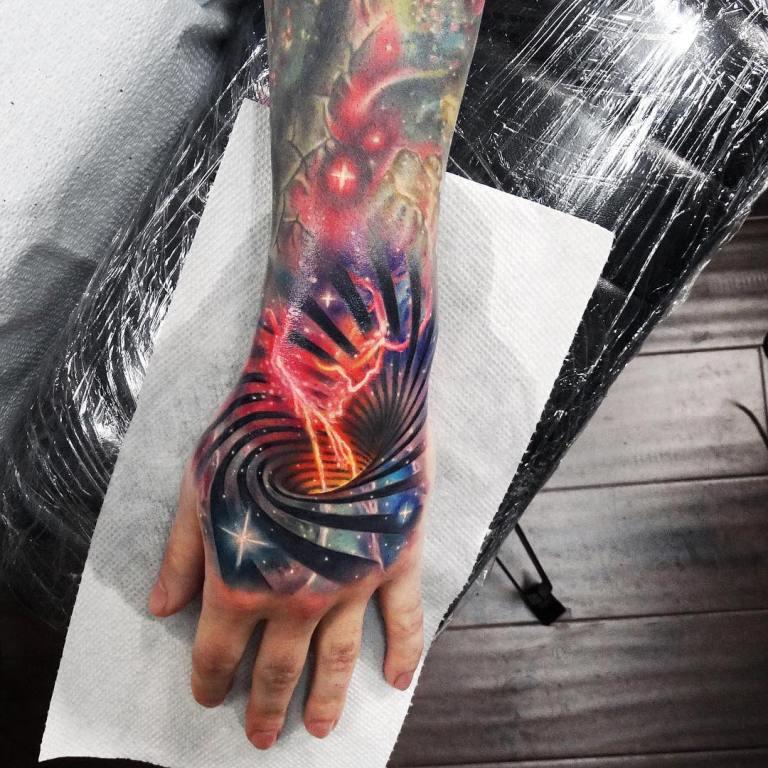 татуировки с планетами