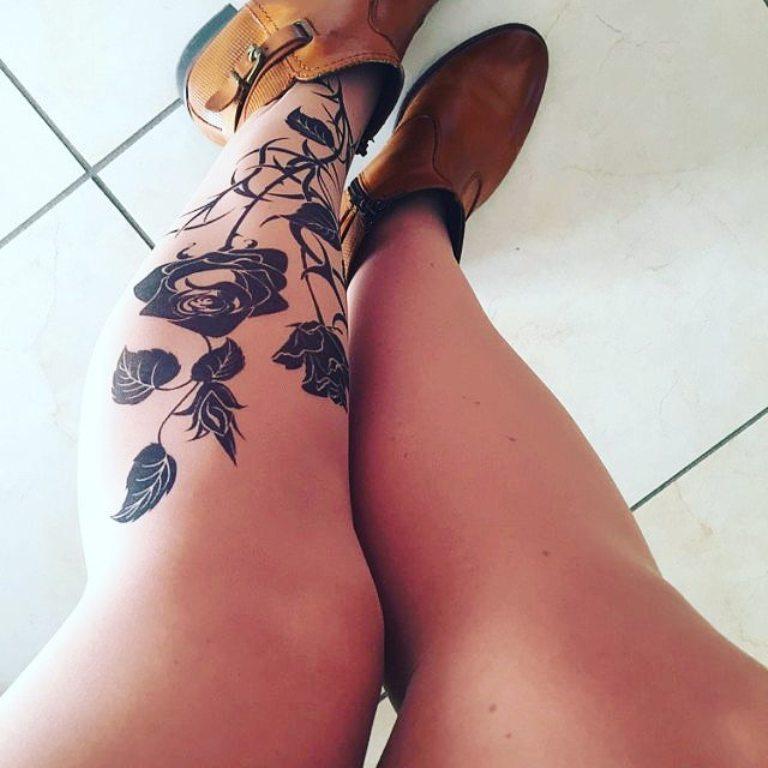тату на ногах