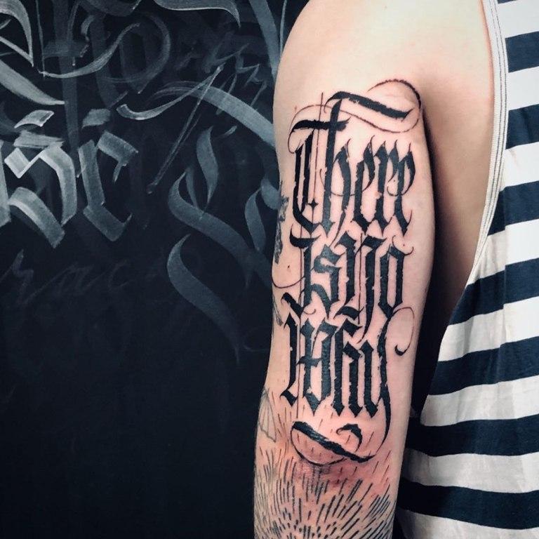 тату надписи на руке для мужчин