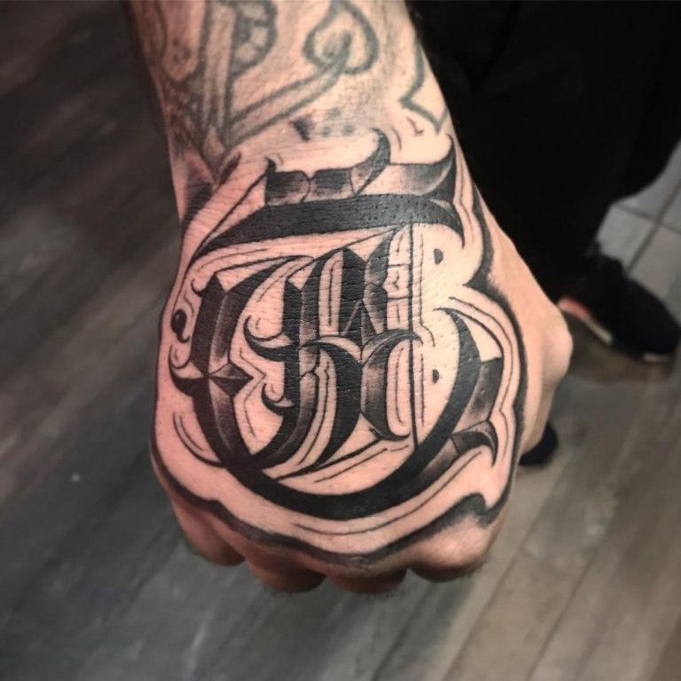 мужские тату надписи