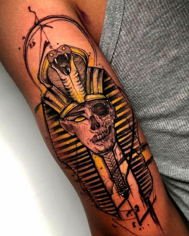 тату египетская тематика для мужчин
