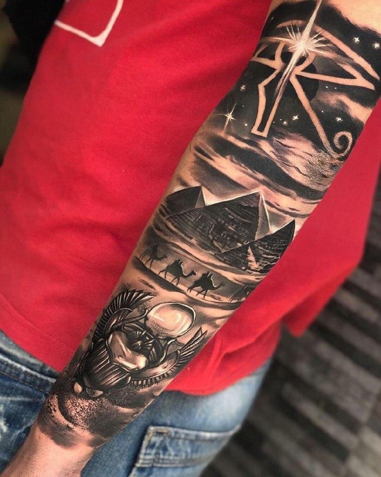 татуировки египетская тематика