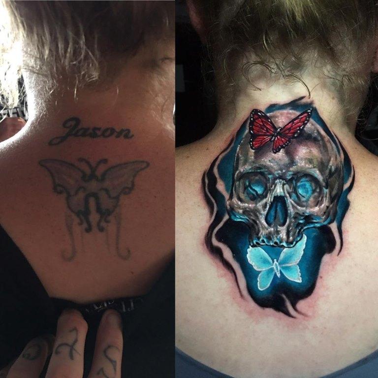 татуировки до и после