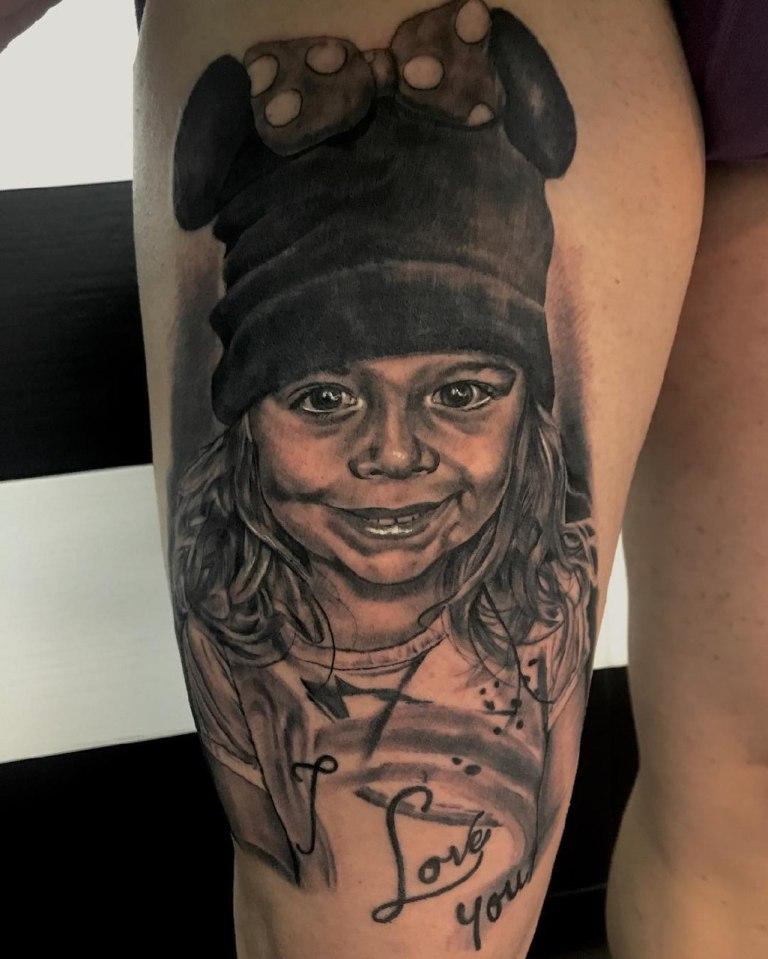 татуировки посвященные детям
