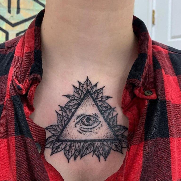 глаз в треугольнике эскиз