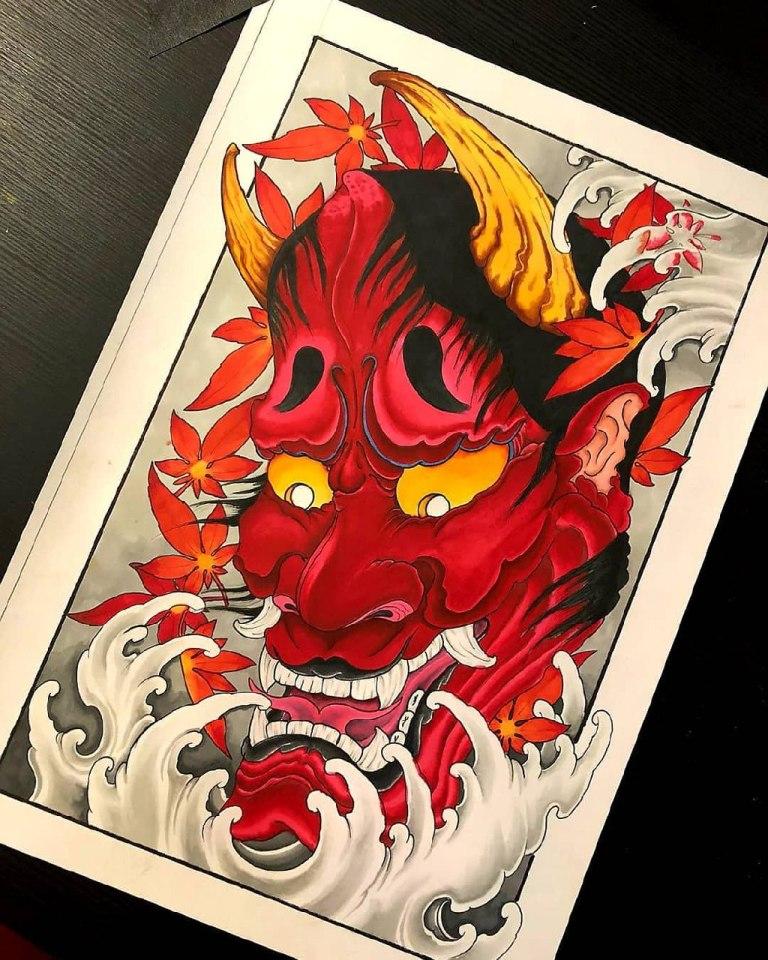 японские демоны тату