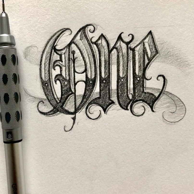 красивый шрифт для надписи