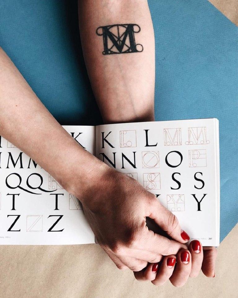 буквы для татуировок