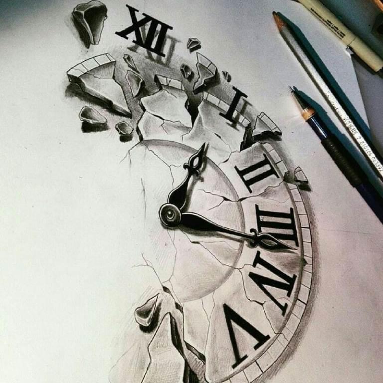 эскизы часов