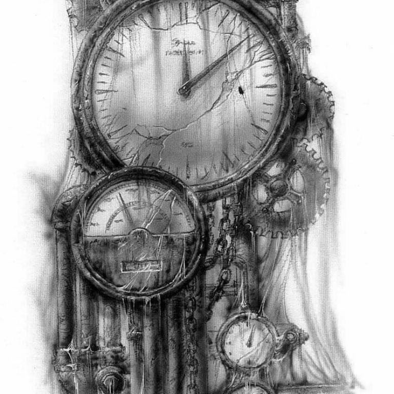 эскизы тату часы