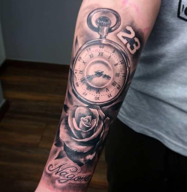 тату часы значение