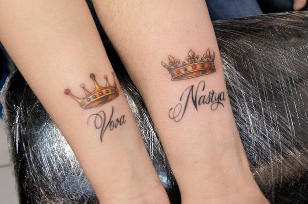 татуировки с именем
