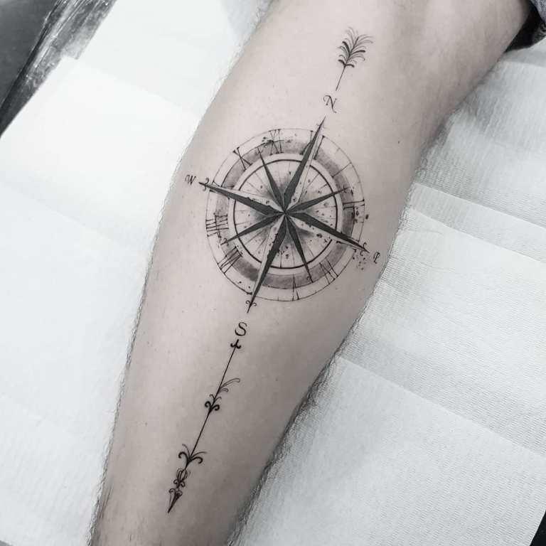 роза ветров татуировка