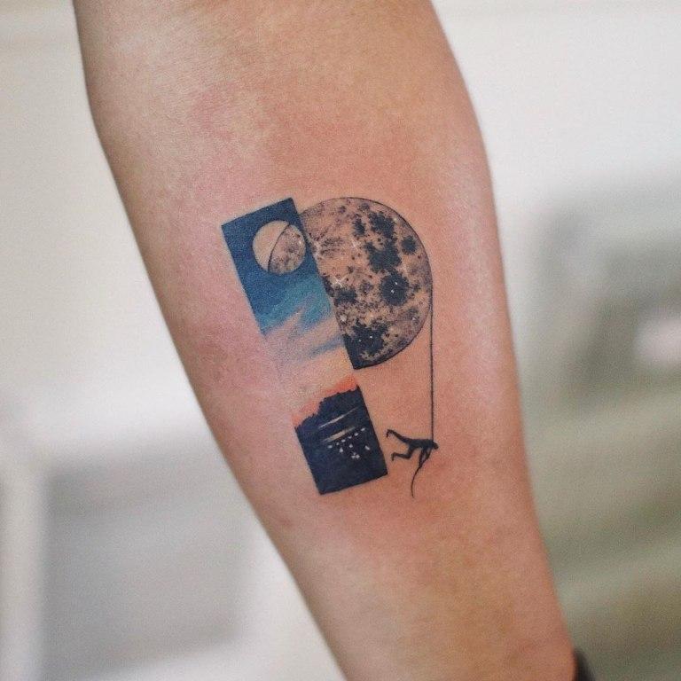 что означает тату луна