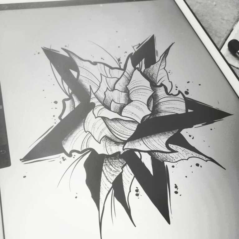 пентаграмма тату эскиз