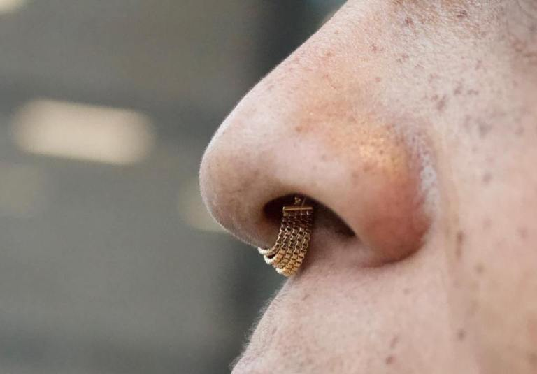пирсинг перегородки носа