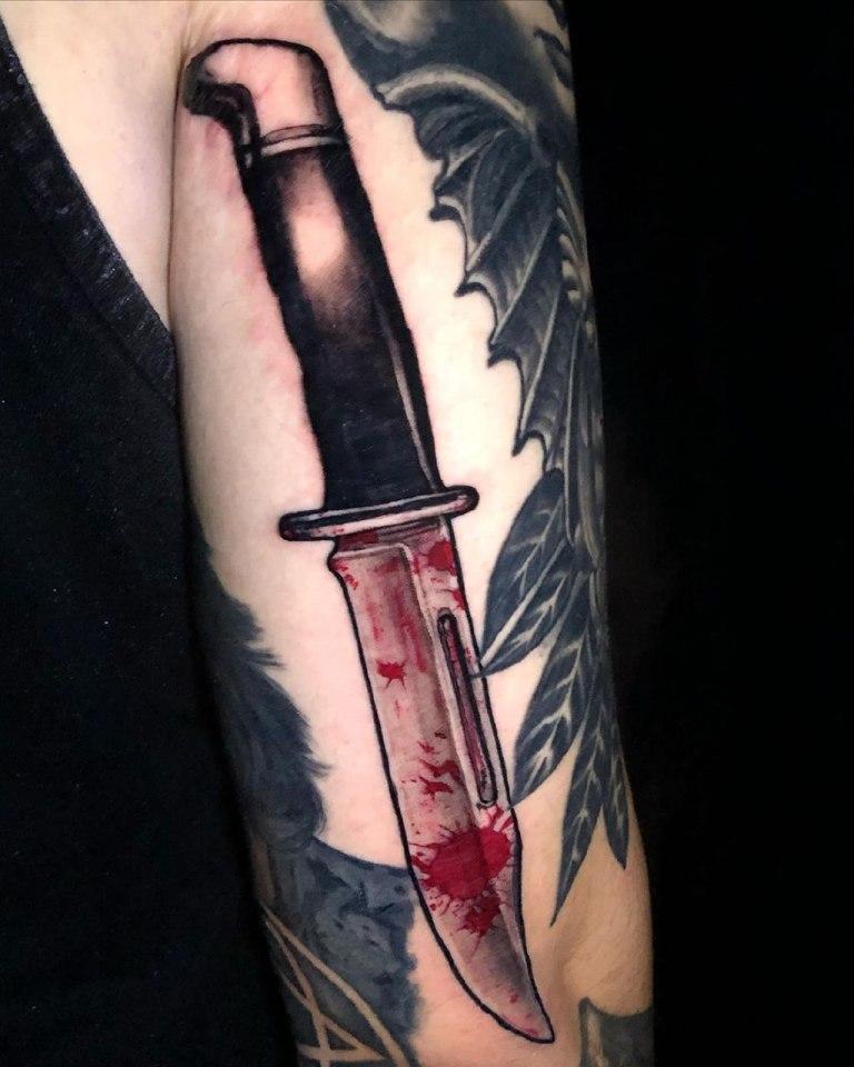 нож эскиз тату
