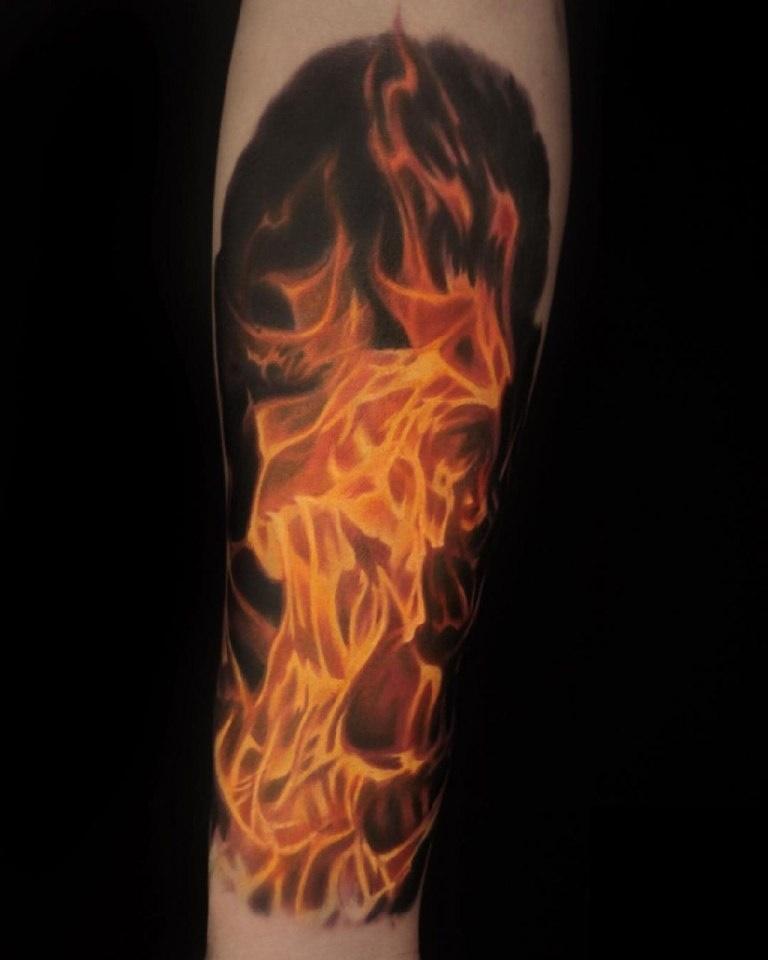 эскиз огня