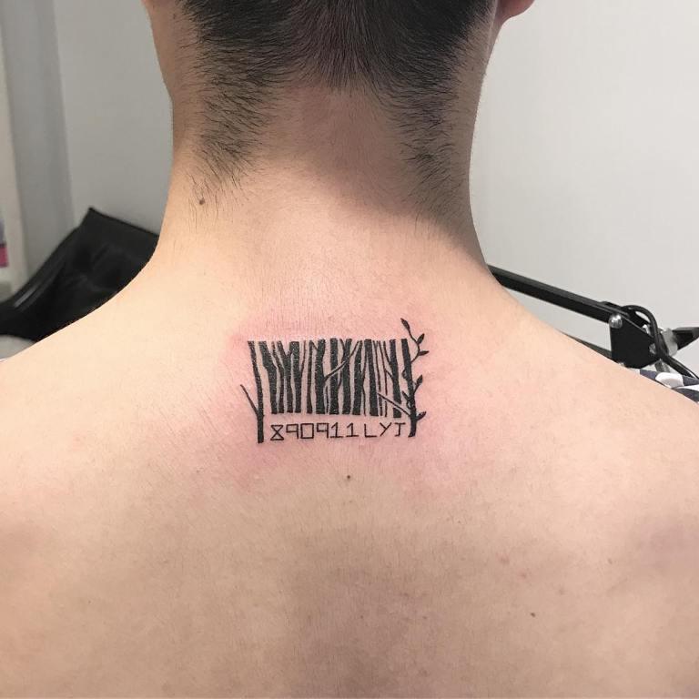 татуировка штрих код