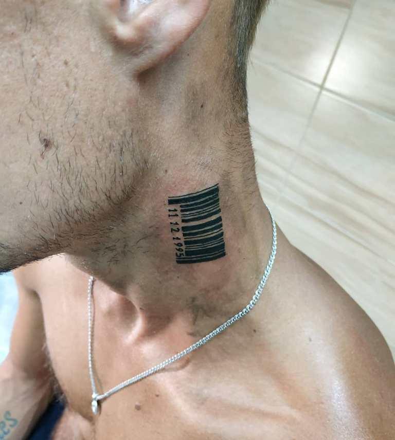 штрих код на шее