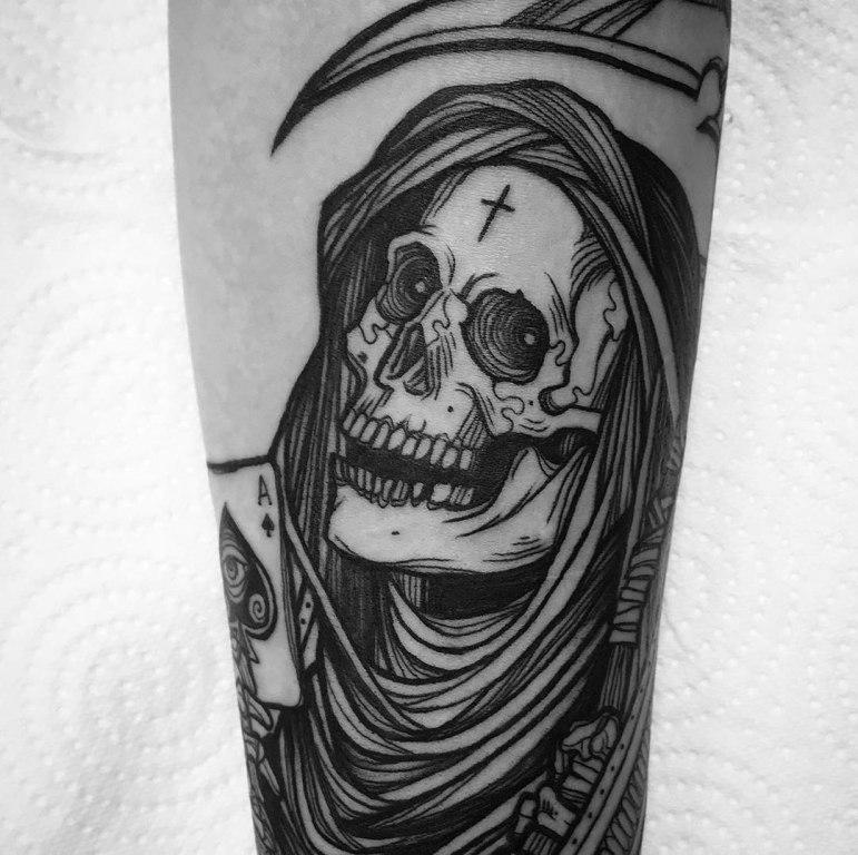 татуировка смерть с косой значение на зоне