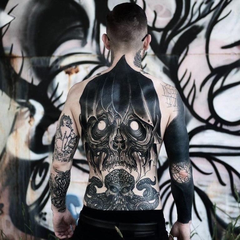 татуировки смерть с косой