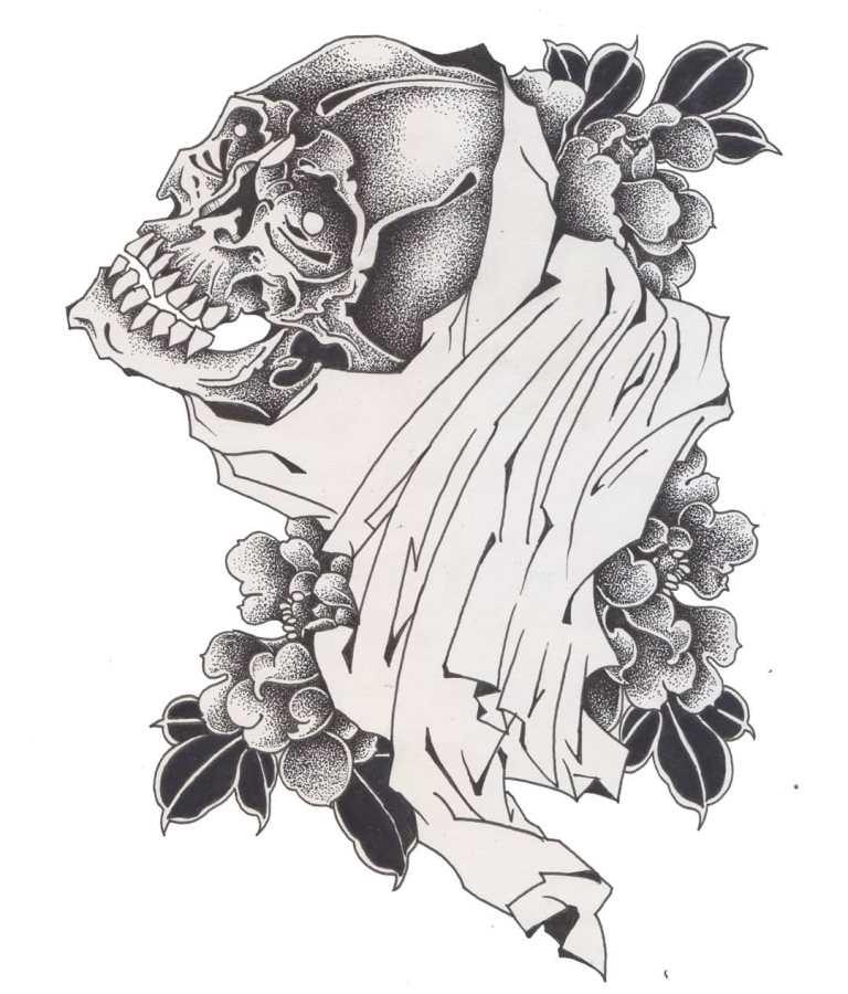эскиз смерть с косой