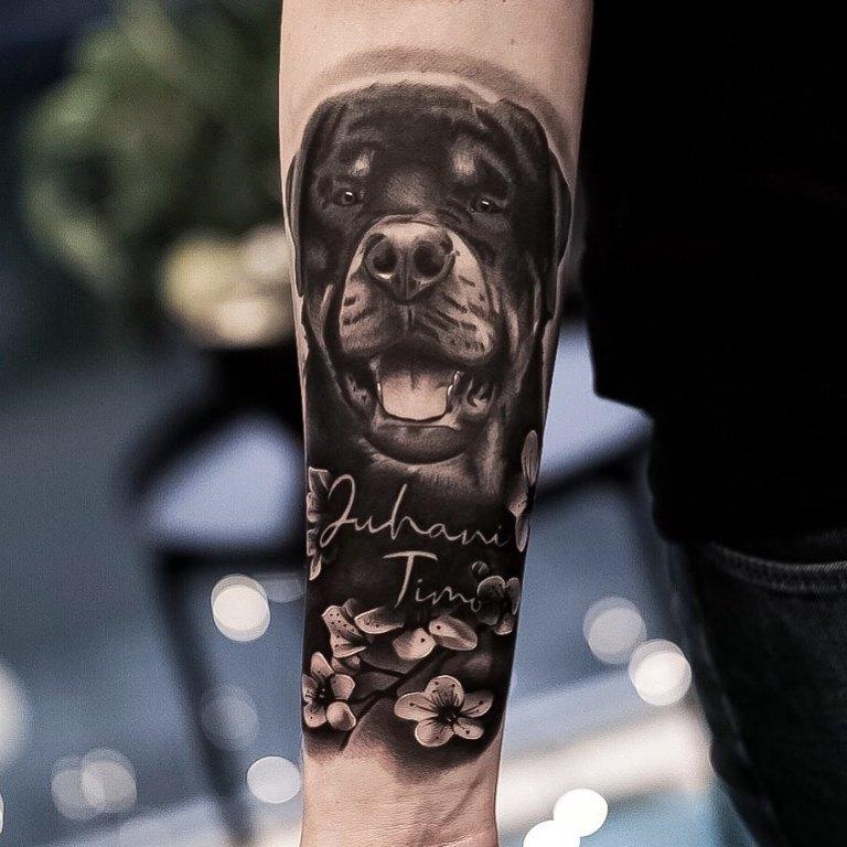 татуировка собака значение