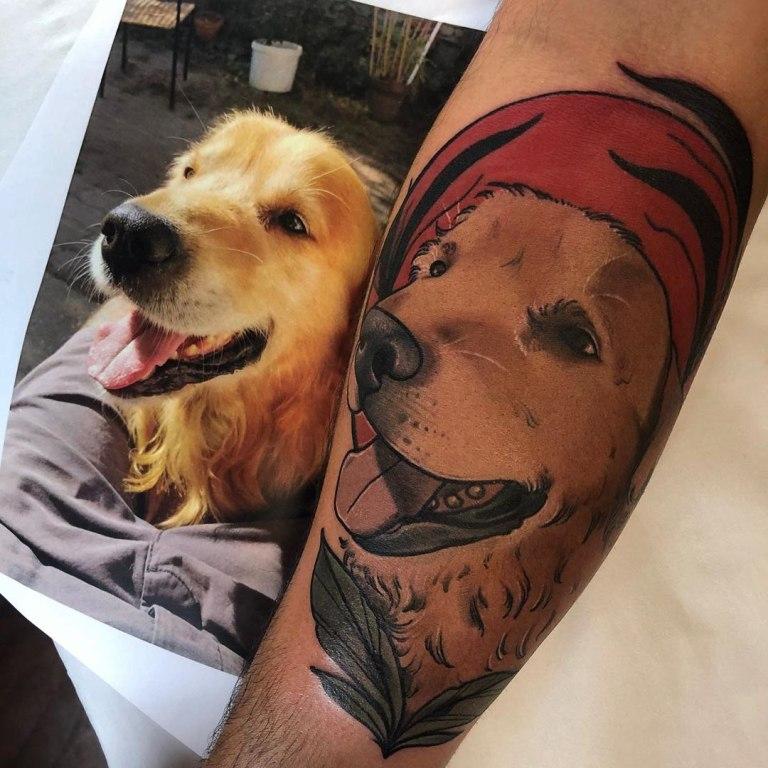 тату с собаками