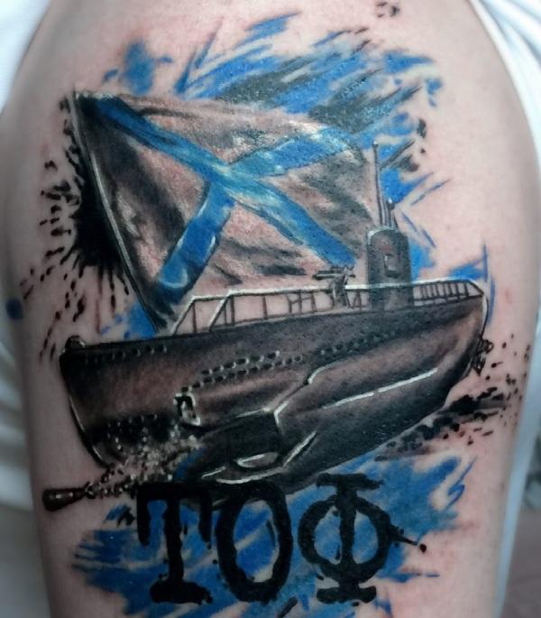 морские татуировки для мужчин