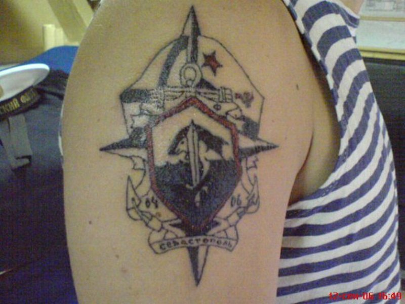 татуировка море