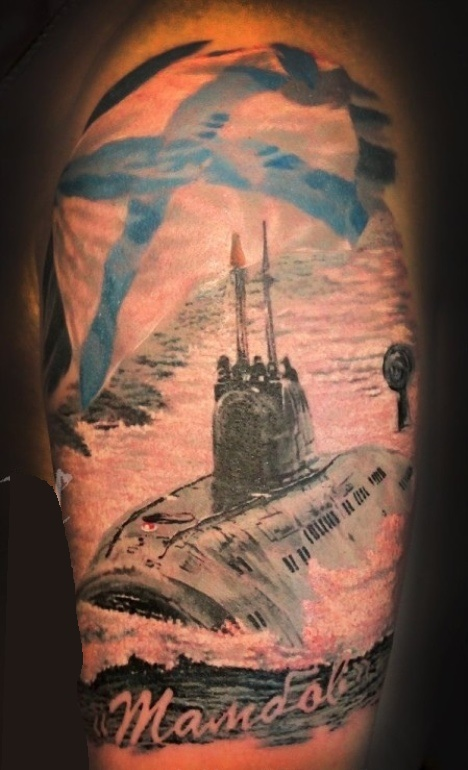 татуировки на морскую тематику