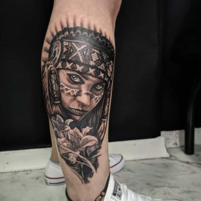 индейские татуировки для мужчин