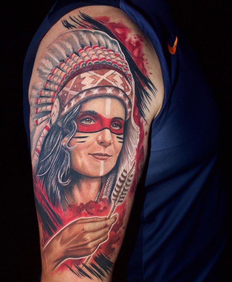 тату индейцев