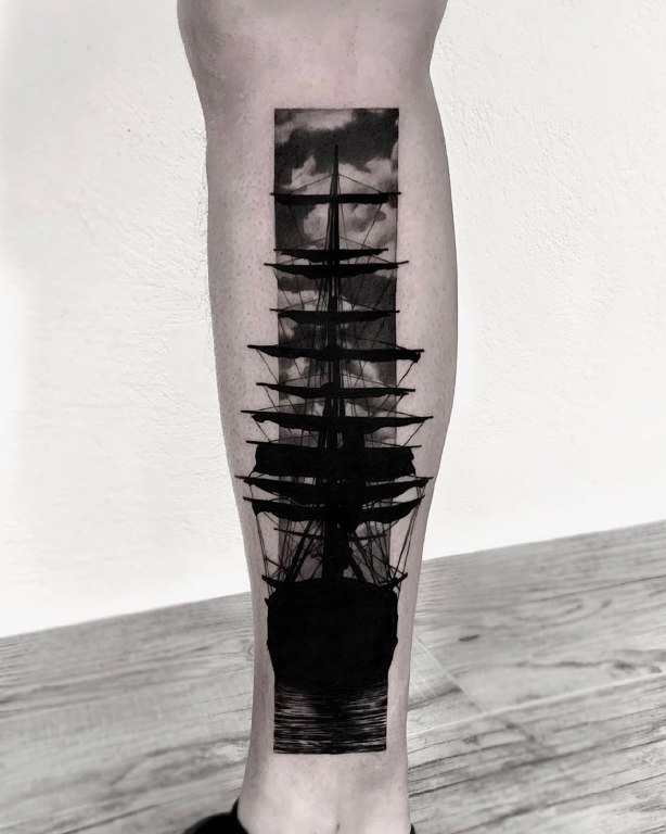 тату корабль с парусами значение