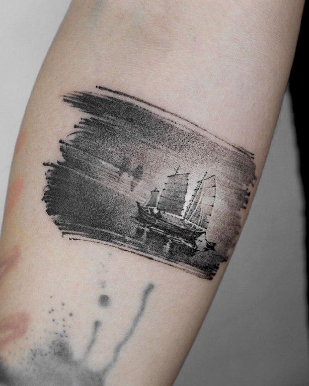 что означает тату корабль
