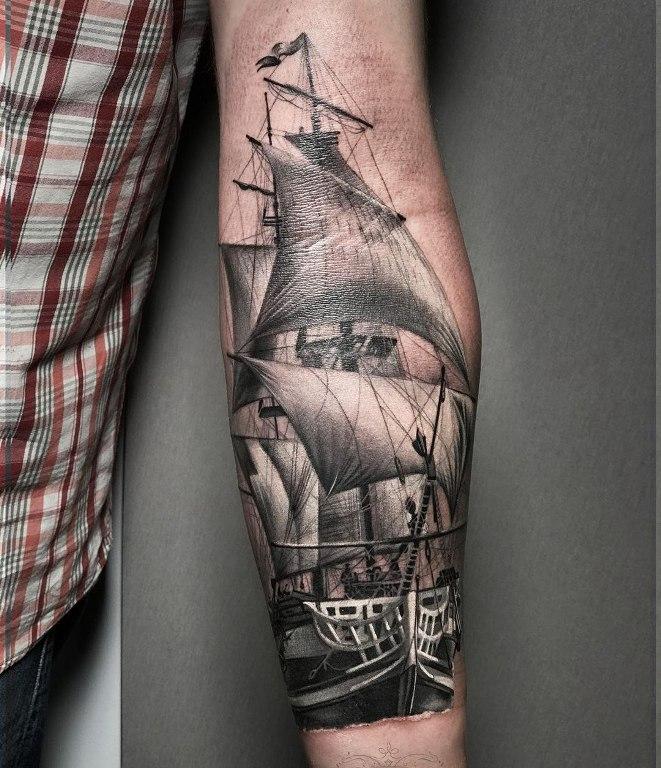 значение тату корабль с парусами