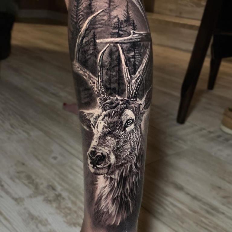 татуировки на икрах