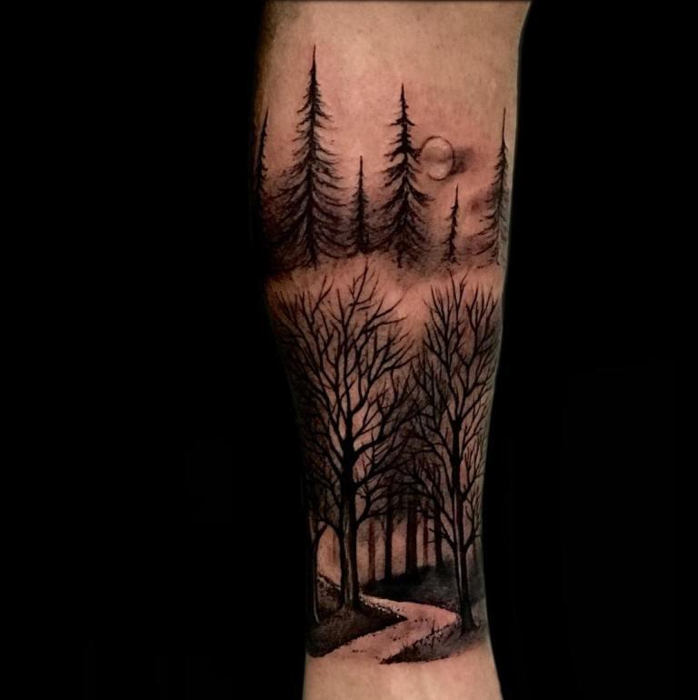 татуировки для мужчин на икре