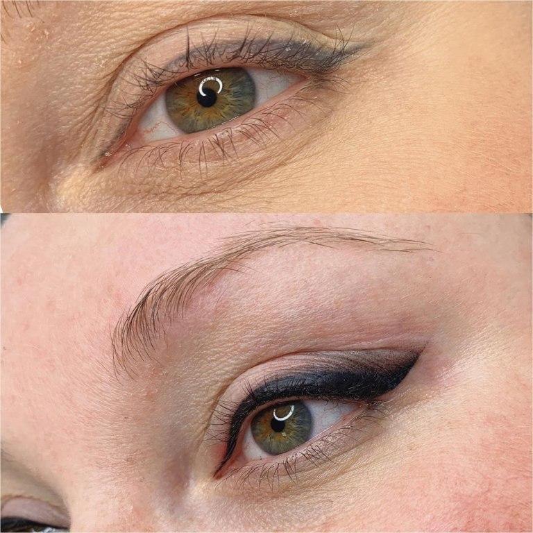 перманентный макияж стрелки фото