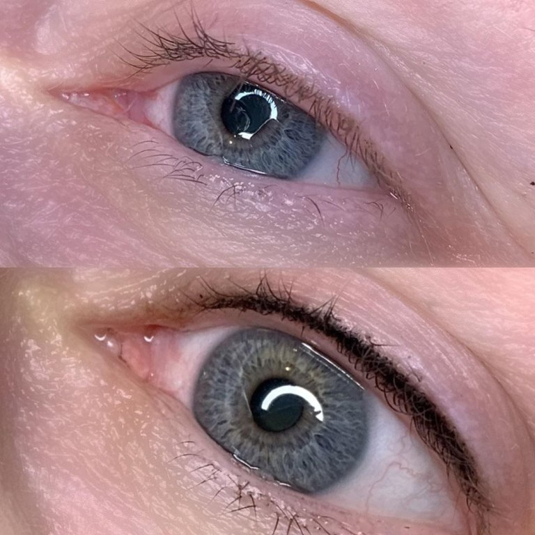 стрелки татуаж на глазах фото