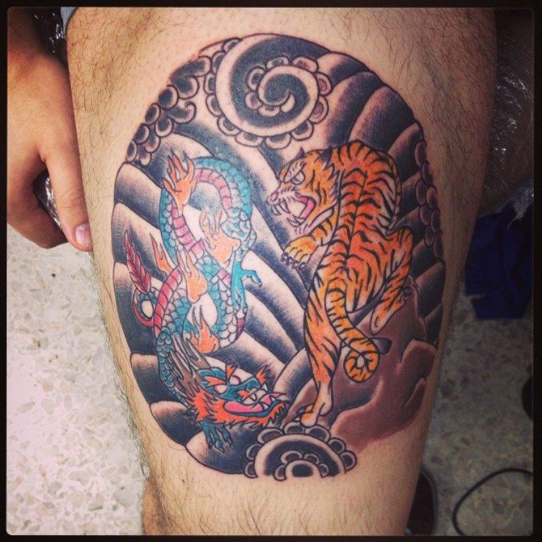 инь янь татуировка