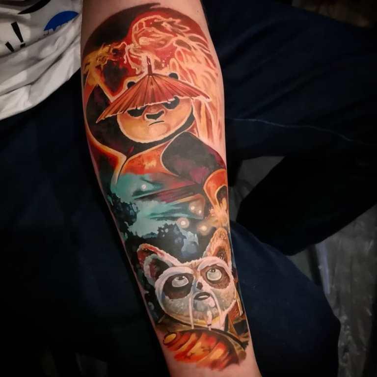 панда татуировка