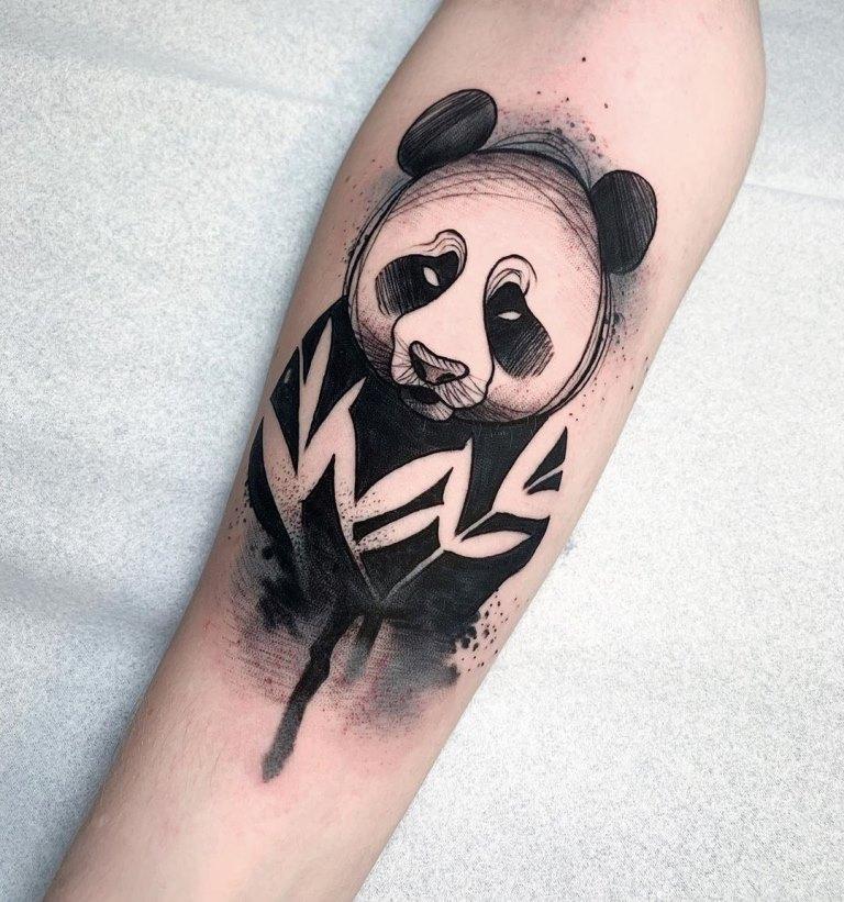 эскиз панды